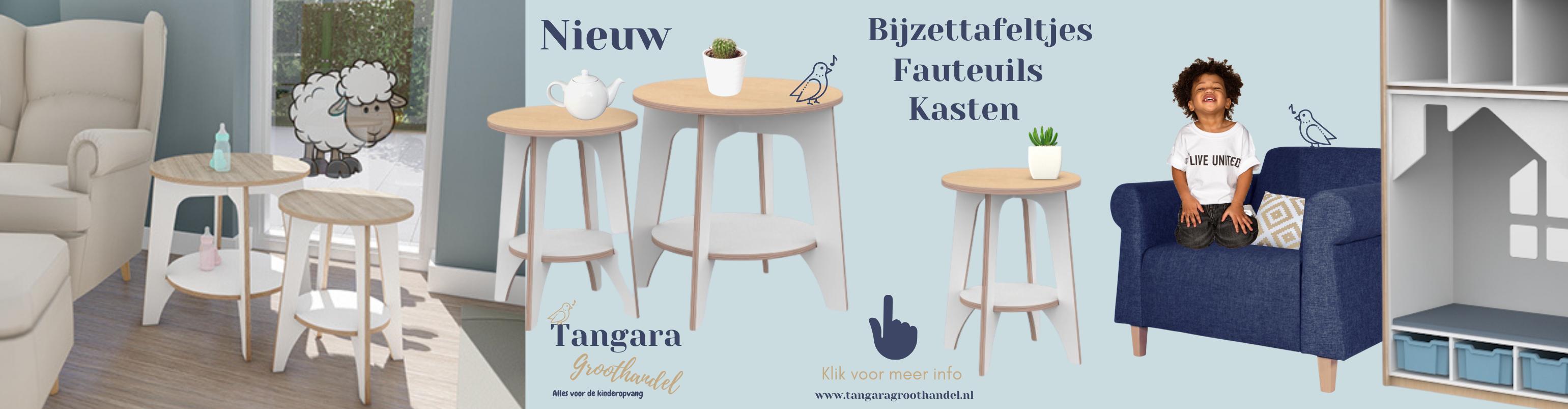 Banner Nieuw Castilo Bijzettafeltjes, Fauteuil Chloe, Kast nov 2020